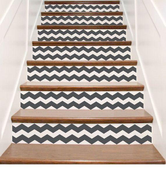Vinyl Stair Tile Decals Chevron One Order One Riser