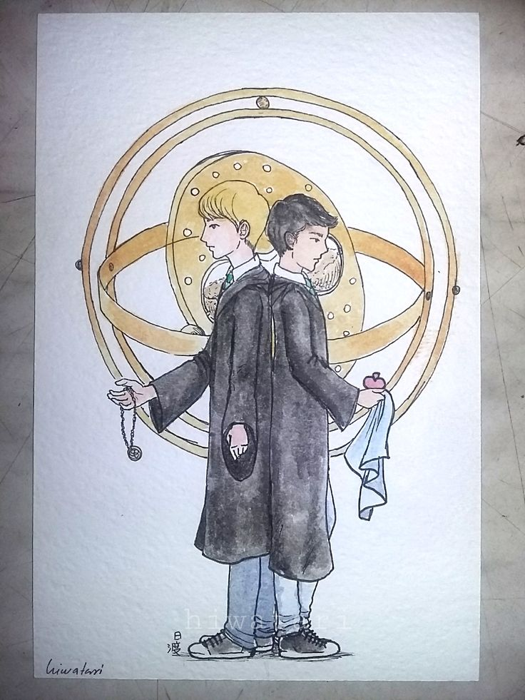ALBUS SEVERUS POTTER and SCORPIUS MALFOY day 11. Stylographs, Ink on paper and watercolour More: HARRY POTTER Don't repost. Be nice. If sharing please give full credit ^^ I'll upload the drawings...
