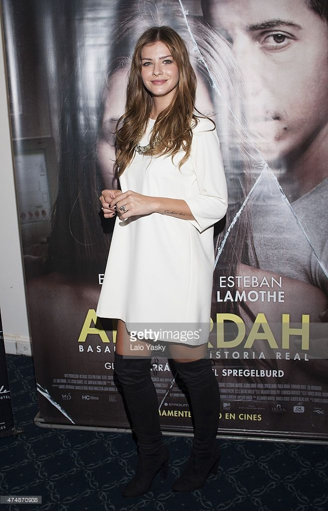 Actress Eugenia 'La China' Suarez attends a press conference to present 'Abzdurdah' at the Dazzler Hotel on May 27, 2015 in Buenos Aires, Argentina.