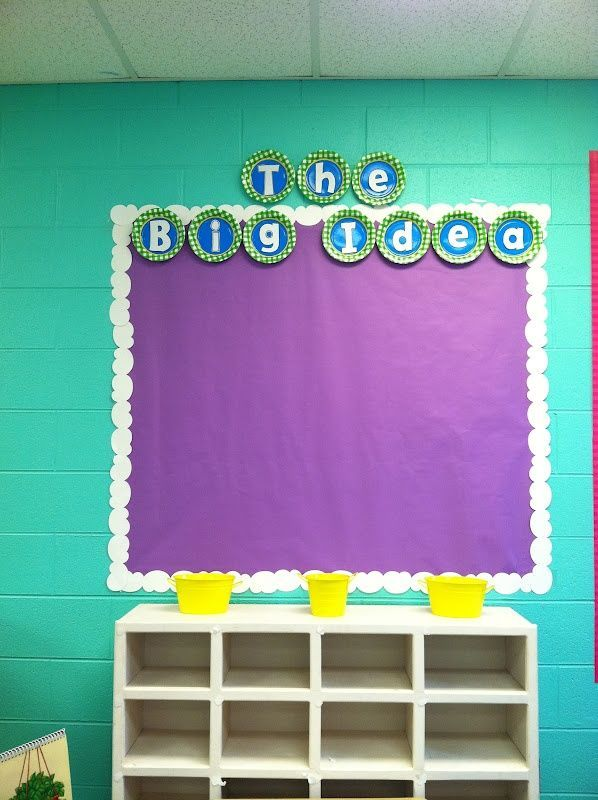 Classroom Design Paper ~ Use die cut letters on paper plates for titles so smart