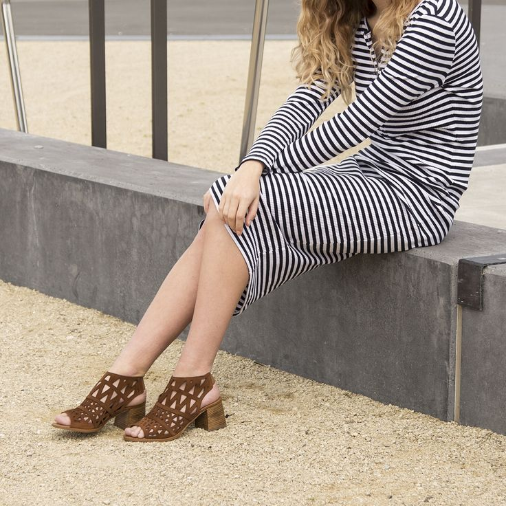 Get perfect cut-out style with the Miss Sofie 'Sage' sandals. Shop: https://www.shoeconnection.co.nz/womens/heels/mid-heels/miss-sofie-sage-leather-heel?c=Juliet%20Crosta%20Andalusa