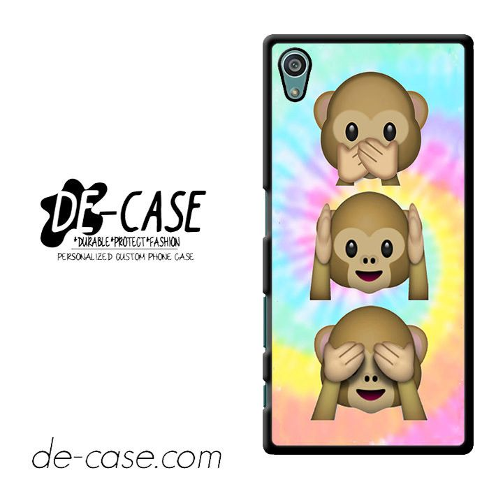 Emoji Monkey Tie Dye Cute Emoji DEAL-3959 Sony Phonecase Cover For Xperia Z5