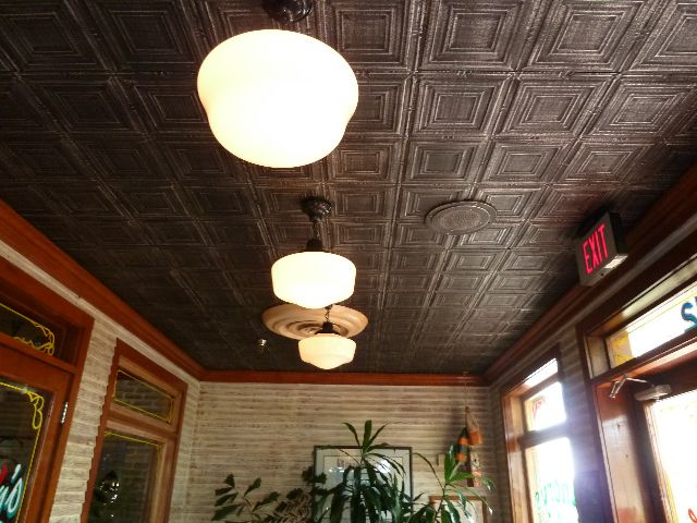 http://www.manufacturedhomerepairtips.com/manufacturedhomeceilingrepairtips.php  has some tips. Ceiling FinishesMetal CeilingCeiling PanelsPressed TinTin ...