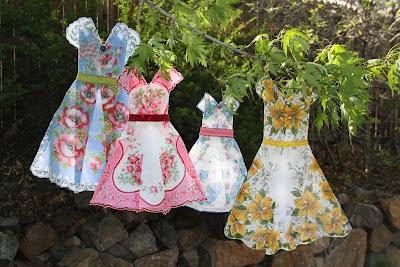 Vintage Hankie Dresses - colorful Antique & Vintage Sewing Finds, Patterns, Fabric, Projects www.rubylane.com @rubylanecom