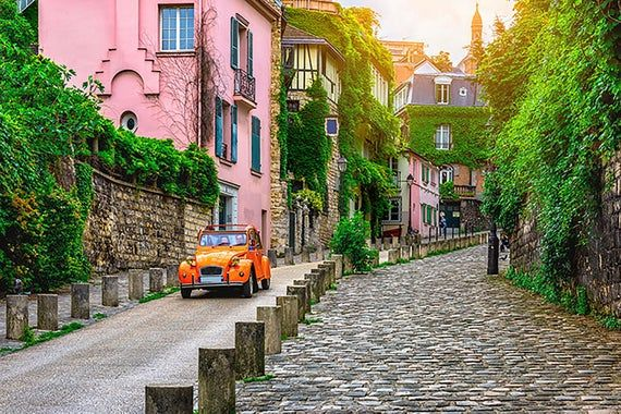 Paris Old Street Photography Backdrop Birthday Party Picture Etsy Best Places To Travel Montmartre Paris Places To Travel