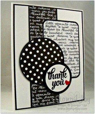 Black And White Handmade Thank You Cards Blog Stamp4joy Com