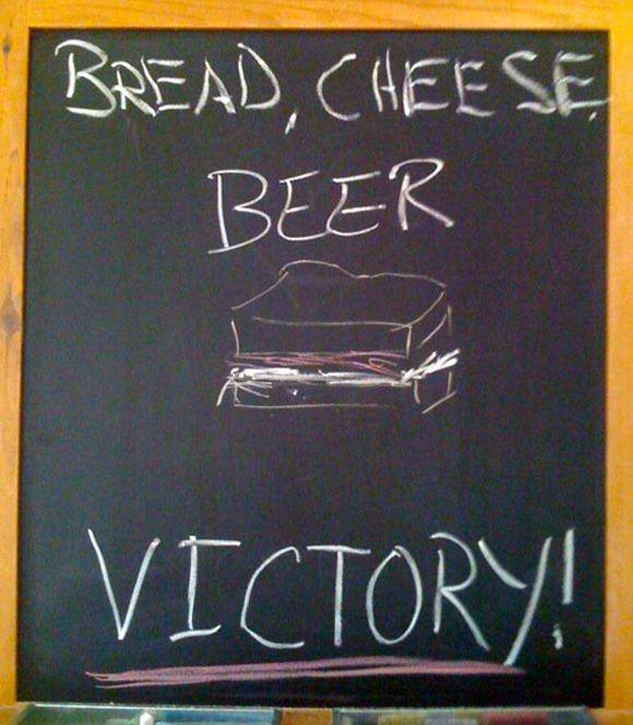 Bread. Cheese. Beer. Victory. #DeschutesBeer