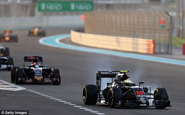 Button's race ended in heartbreak after he was forced to retire just 14 laps into the Gran...