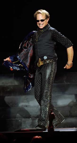 LAS VEGAS, NV - MAY 27: Singer David Lee Roth of Van Halen performs at the MGM Grand Garden Arena.