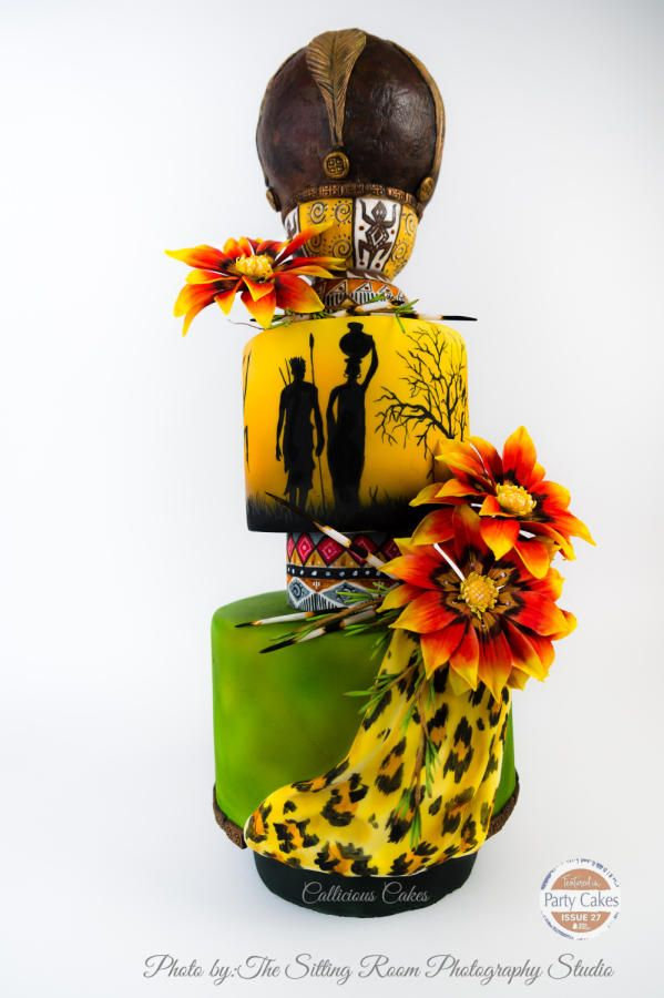 South African Wedding Blessing by Callicious Cakes - http://cakesdecor.com/cakes/242581-south-african-wedding-blessing
