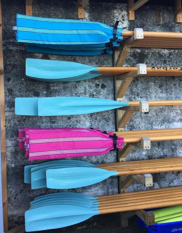 Bespoke, Handmade Blade Covers.  Custom Request from Brixham Gig Rowing Club