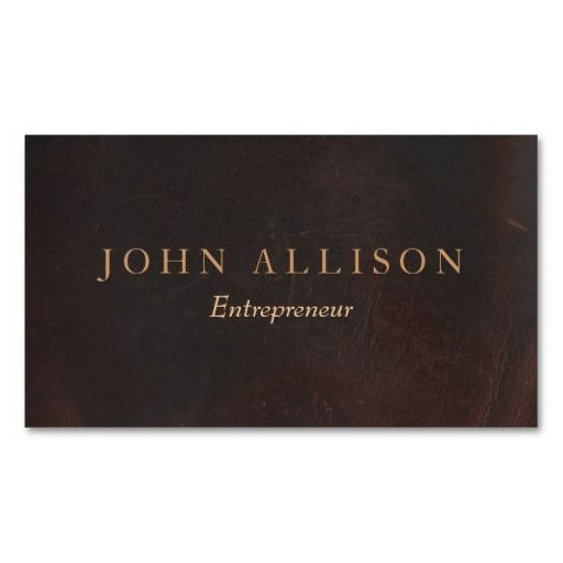 29 best vintage country rustic business cards images on pinterest executive professional brown leather look vintage business cardeat for writers and carpenters reheart Images