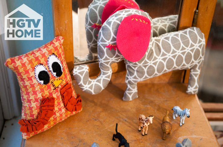Made + Remade's @Hannah Mestel B. made some fun DIY stuffed animals. Handmade gifts perfect for young ones. #12DaysOfHGTVHOMEHandmade Gift, Stuffed Animal