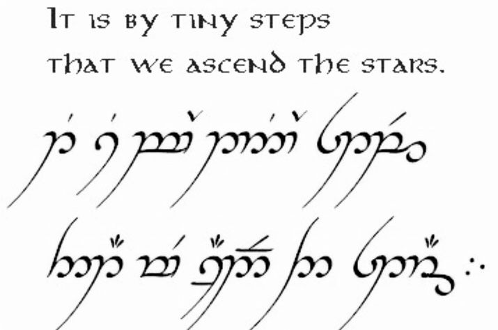 Lord Of The Rings Elvish Writing Quotes Tattoo With Images