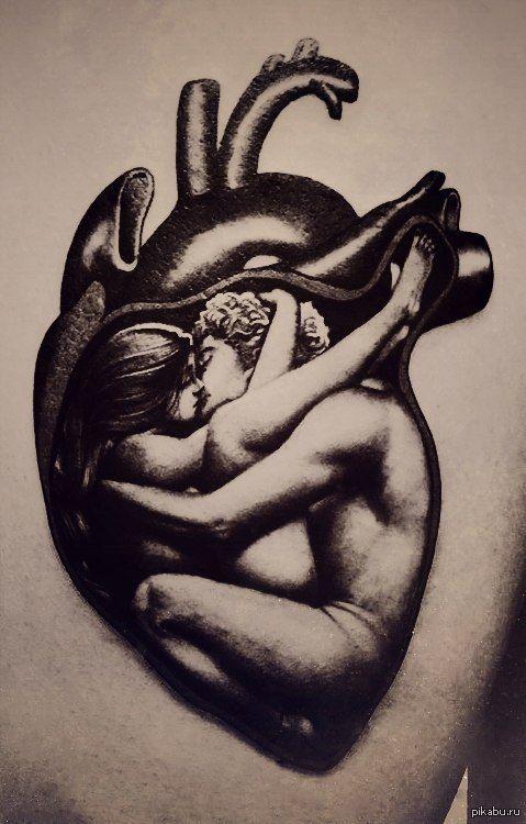 Тату для истинных романтиков!   тату, сердце