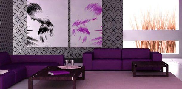 Sofa Minimalis Modern Warna Ungu