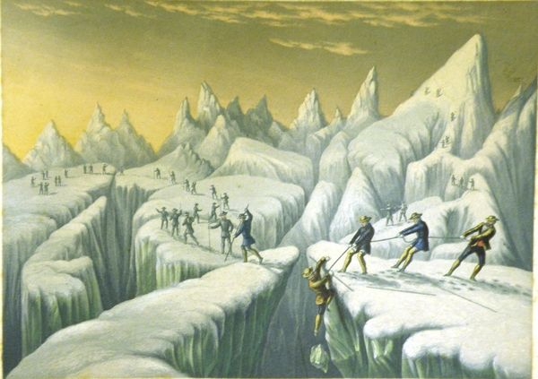 Print of 'Ascent of Mont Blanc' by George Baxter, 1855.   Hatton Gallery  Collection Search, Tyne & Wear Archives & Museums