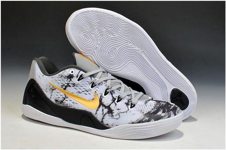 Nike Zoom Kobe 9 Shoes Gold Grey Black