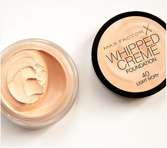 Max Factor Whipped Cream Foundation (40 Ivory)...Nice texture, good coverage & easy to apply.