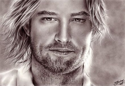 Josh Holloway - Dimples and long blond hair
