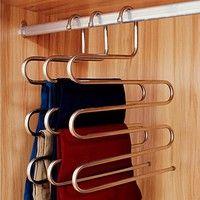 Wish | Fashion Pants Hanger Trousers Organizer Hanging Clothes Rack Hanger Layers Clothing Storage Space Saver Closet Organization Home Decor