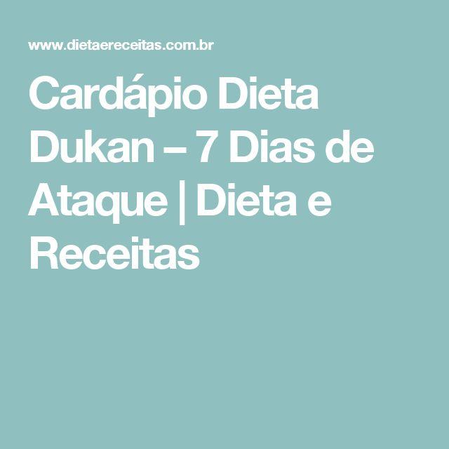 Cardápio Dieta Dukan – 7 Dias de Ataque | Dieta e Receitas