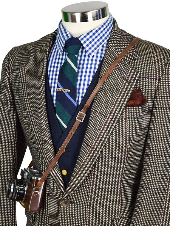 Italian Made 38R Lightweight Nicely Tailored Windowpane Gentry Blazer nBMhew2