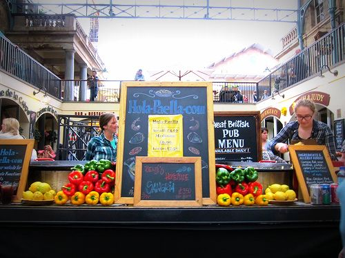 Crave Hawkers stand and food - Spain!