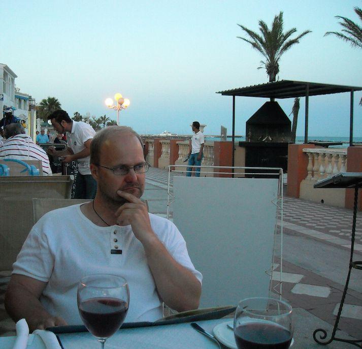 In Benalmadena Spain wine and dine.
