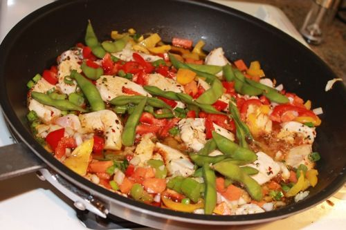 A zesty and colorful chicken stir fry recipe that's full of flavor, a perfect and delicious meal for any occasion! Click here for my favorite chicken stir fry recipe.