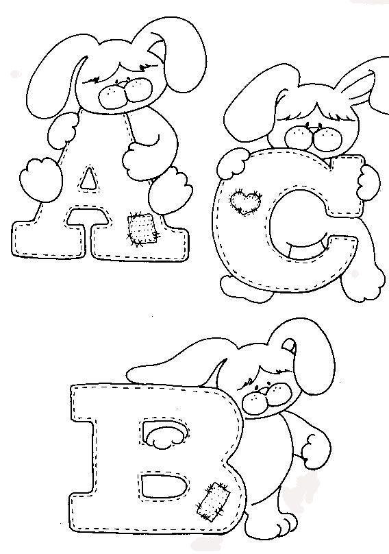 Desenhos Para Colorir Alfabeto Completo Para Colorir Mural De