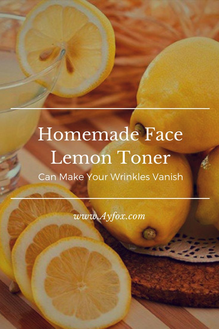 Homemade Face lemon Toner Can Make Your Wrinkles Vanish