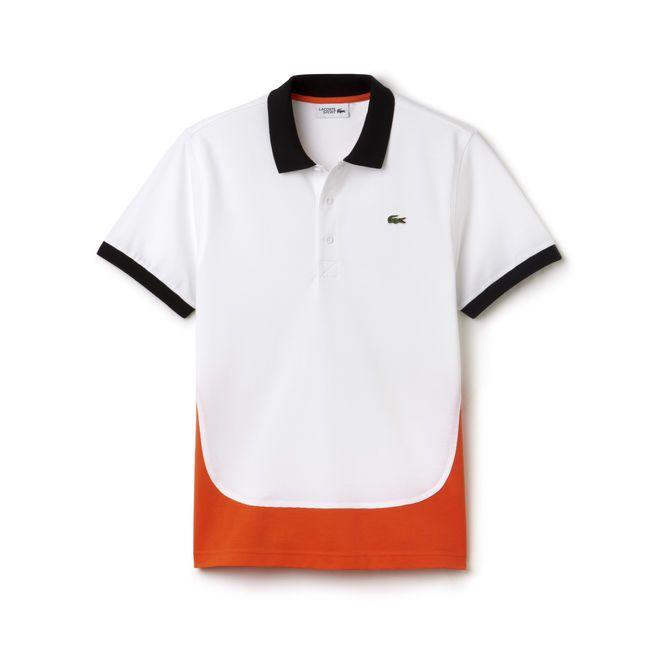 Polo Tennis Lacoste Sport em malha superlight com costuras lisas