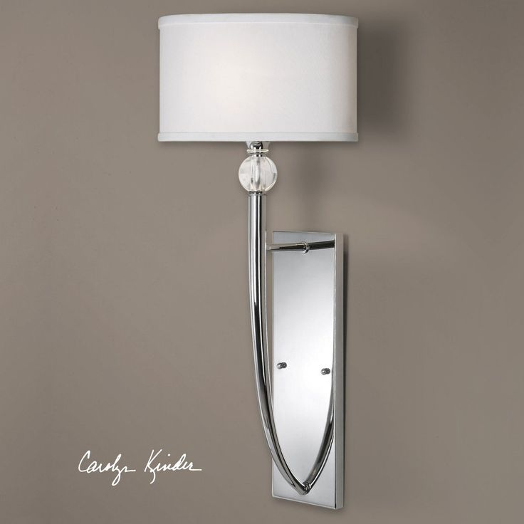 Uttermost Vanalen Polished Chrome One Light Wall Sconce