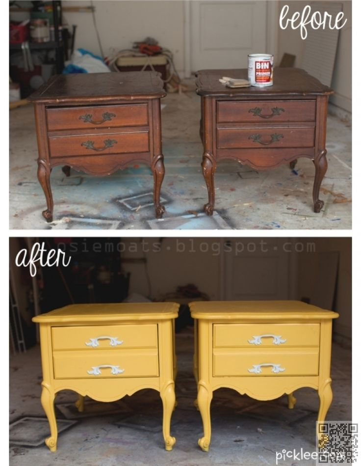 5. #Nightstand Transformation - 44 #Trash to Treasure #Projects to Transform Junk like You Won't #Believe ... → DIY #Chalk