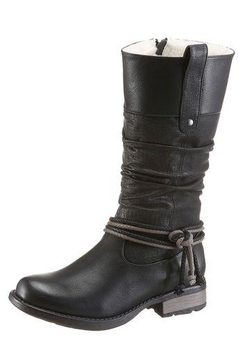 #RIEKER #Damen #Winterstiefel #schwarz - Stiefel von Rieker aus Lederimitat…