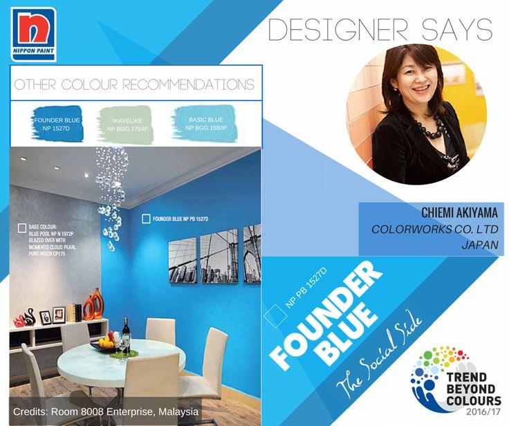 Jika Anda mencari palet warna menarik untuk ruang makan, Founder Blue NP PB 1527D adalah pilihan tepat! Warna yang menawan ini akan memancarkan ketenangan ke seluruh ruangan.