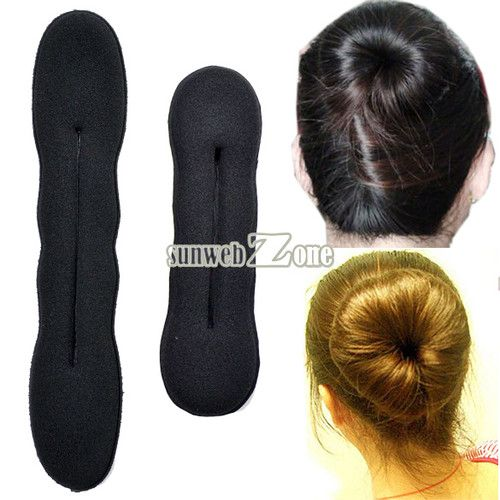 US $0.99,2pcs Magic Foam Sponge Hair Plate Donut Bun Maker Former Twist Tool Styling  ebay item id:#140852699776