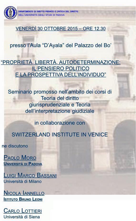 L'INDIPENDENZA DI SAN MARCO: UNIVERSITA' PADOVA FA SEMINARIO SU AUTODETERMINAZI...