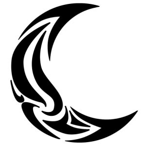 Tribal Moon Tattoos