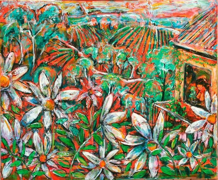 *'Abundance' by Jeremy Holton* 100 by 120 cms oil on canvas #painting #art #jeremyholton http://www.jeremyholton.com http://thailand-painting-holidays.com Visit our art and photography guest house in NE Thailand by Jeremy Holton https://plus.google.com/u/0/104359568476968412848?rel=author