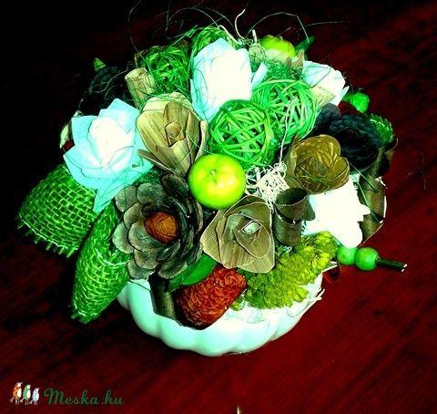 Zöld almás asztaldísz (pinkrose) - Meska.hu