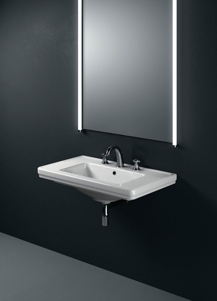 GSI ceramic | The Classic collection 90,75, and 60 can also be fitted wall-hung.  #GSIceramica #BathroomDesign #Washbasins #Sanitaryware