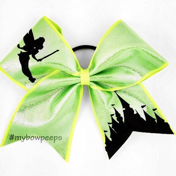 Tinkerbell Cheer Bow by MyBowPeeps on Etsy