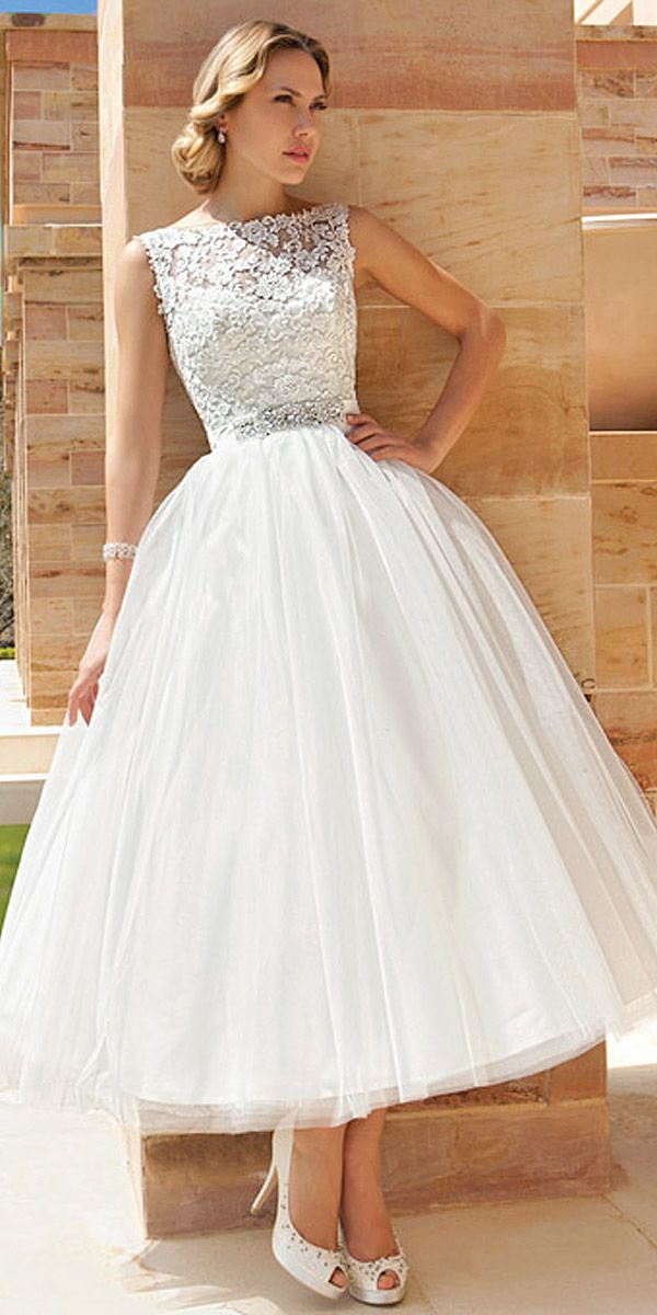 18 Gorgeous Tea Length Wedding Dresses ❤ Owners of tea length wedding dresses look stylish, romantic and feminine. See more: http://www.weddingforward.com/tea-length-wedding-dresses/ #wedding #dresses  #vestidodenovia | #trajesdenovio | vestidos de novia para gorditas | vestidos de novia cortos  http://amzn.to/29aGZWo
