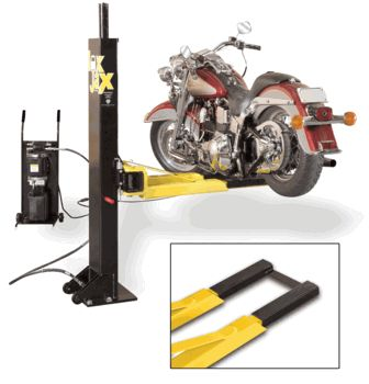 6,000 lbs Portable Two Post Lift Motorcycle Adapter