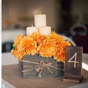 Creative Table Number Ideas - Rustic Charm