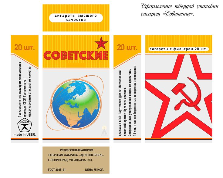 Nostalgia design of a pack of cigarettes.