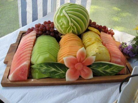 Fruit tray design.
