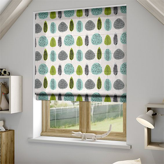 Wildleaf Spring Green Roman Blind from Blinds 2go